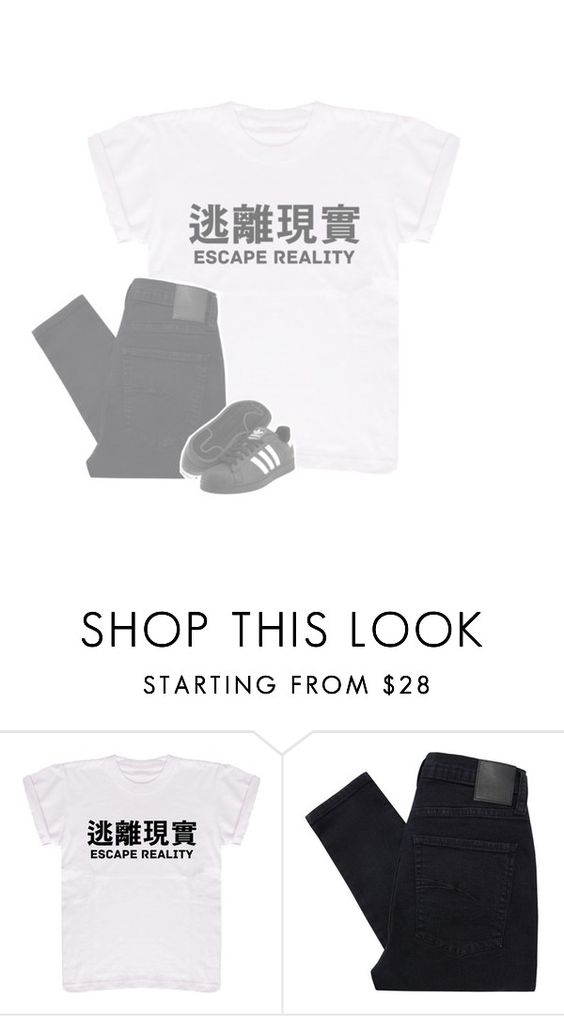"""TO TRAIN THEM IS MY CAUSE"" by original-heartxbreak-girl ❤ liked on Polyvore featuring Nobody Denim and adidas Originals"
