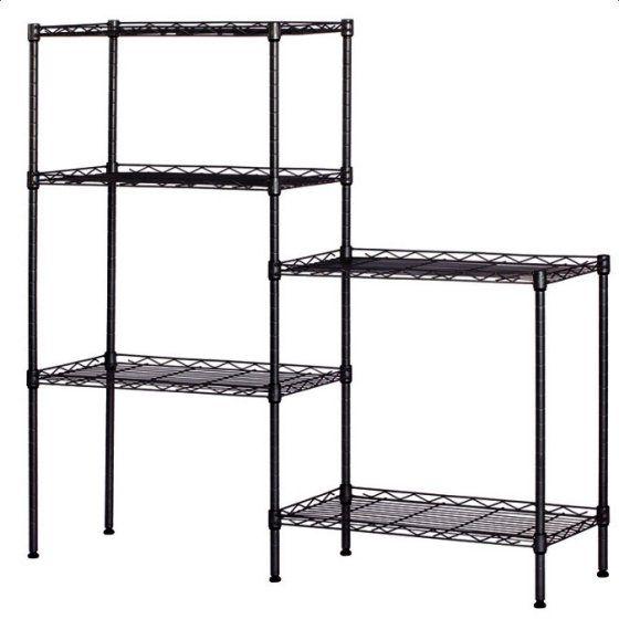 Coko 5 Layers Carbon Steel Storage Rack For Kitchen Corner Metal Shelves Organizer Walmart Com Steel Storage Rack Metal Storage Racks Wire Storage Racks