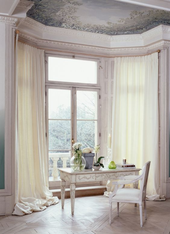 Curtains Ideas bay window curtain pole ceiling fix : A Silent Gliss Metropolitan pole bent to suit a multi angled large ...