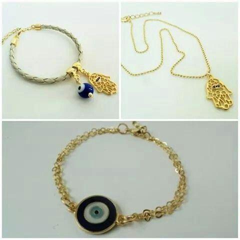 Acessórios e amuletos #handmade #renatapires #acessórios #bijuterias #olhogrego