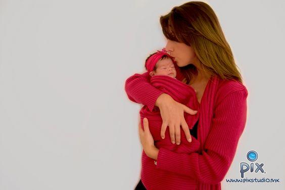 fotografía, retrato, mama, recién nacido, beso, amor