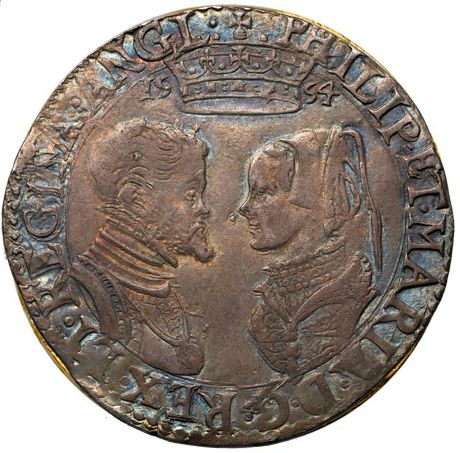 Mary I & Philip Shilling, 1554 - was the first English coin to bear a double portrait.