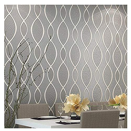 Living Room Wallpaper Grey Blooming Wall Extra Thick Non Woven Modern Leaf Flow Embossed Textured Wa Textured Wallpaper Wallpaper Living Room Wall Wallpaper