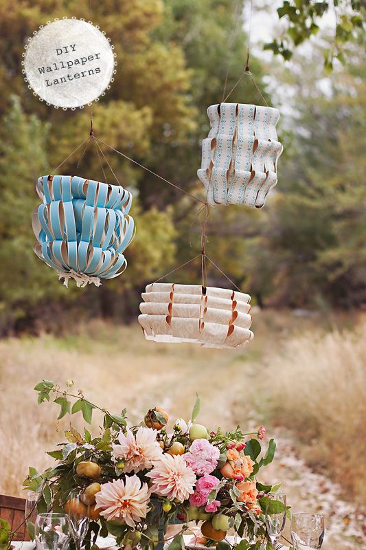 DIY Wallpaper Lanterns