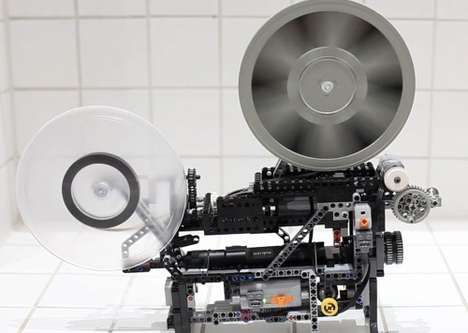 LEGO TECHNIC SUPER-8 MOVIE Brick-Film-Projector #lego #legotechnic #legobrickfilmprojector