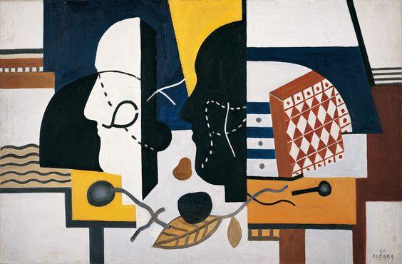 Fernand Léger | Zwei Profile - Two Profiles | 1928, © Albertina, Wien