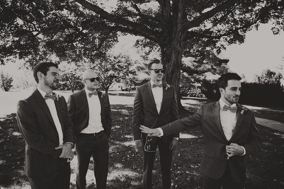 Black & White Wedding Photography   Groomsmen Photos   Bowties & Shades   London NYC Brooklyn Wedding Photographer
