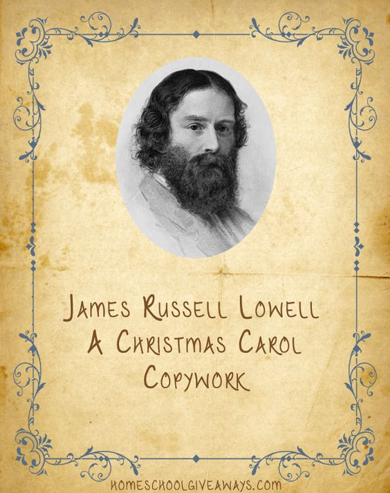 American Authors Copywork-James Russell Lowell | Homeschool Giveaways