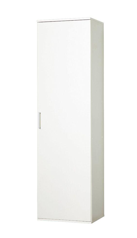 WILMES 40148-75 0 75 Schrank Ronny, 1 Tür, Dekor Melamin, 50 x 178 x 39 cm, weiß: Amazon.de: Küche & Haushalt
