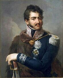 Josef Poniatowski. Polish. One of Napoleon's Marshals. Died 1813 at Battle of Leipzig.