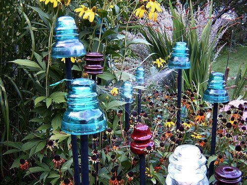 Glass insulators garden things i love pinterest for Glass insulator ideas