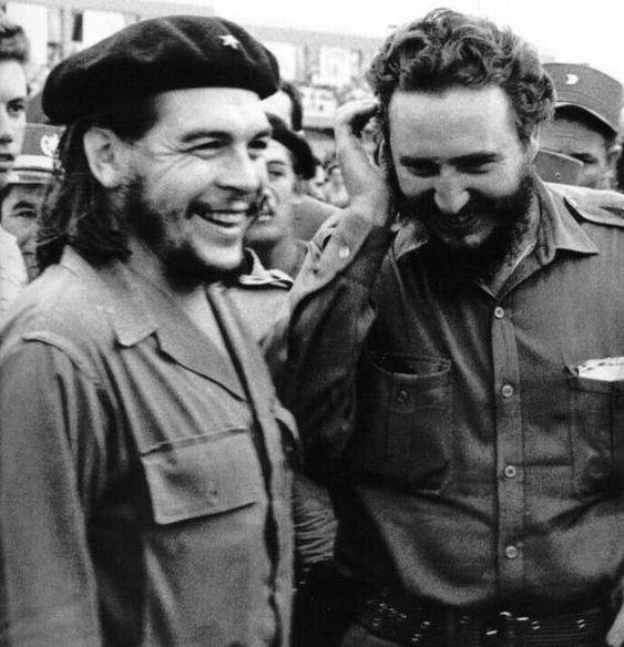 Che Guevara and Fidel Castro - Cuban Marxist guerrilla revolutionary murderers and dictators.