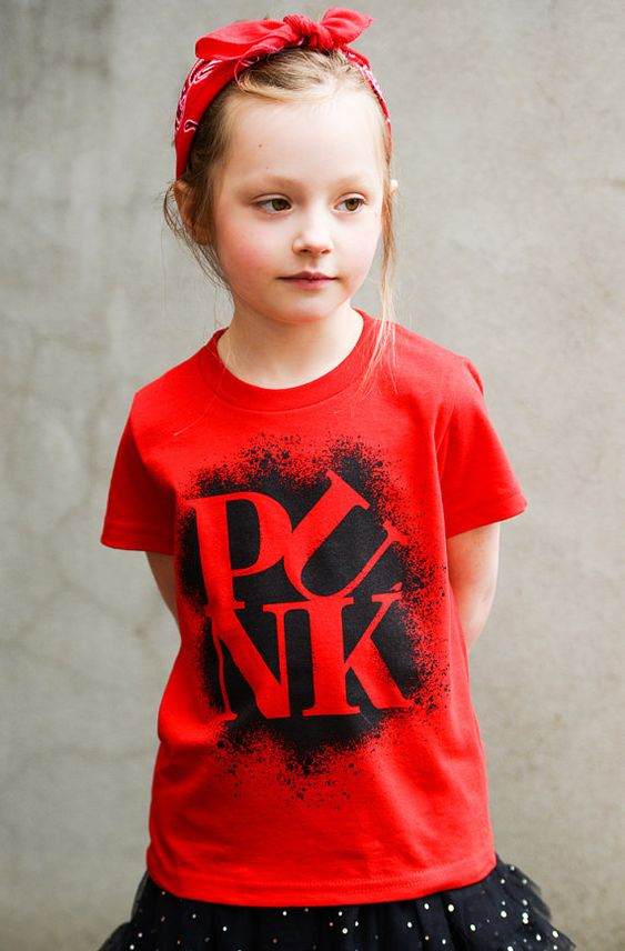 "Kids ""Punk Love"" Tee Shirt By Hatch For Kids - Children's Clothing Philadelphia Love Park Philly Graffiti - Size 2t, 4t, 6t, 8, 10, 12"