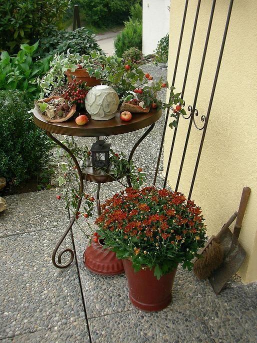 Herbst Am Hauseingang Hauseingang Herbst Dekoration Dekoration