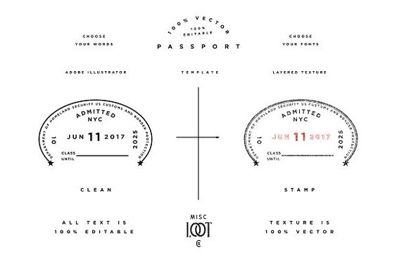 Passport Template by Misc Loot Co on @creativemarket Graphic - passport template