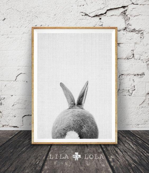 Drucken von Kaninchen Kaninchen Hintern Schwanz von lilandlola