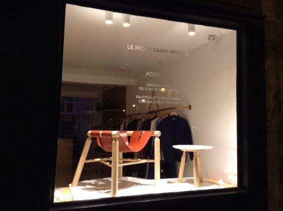 Adentro xxx Le Mont Saint Michel Design Week Paris 2015 NINNA armchair & table Design Carlo Contin