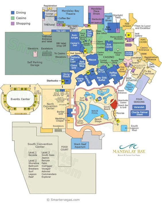 Mandalay Bay Las Vegas Map Mandalay Bay Casino Floor Map