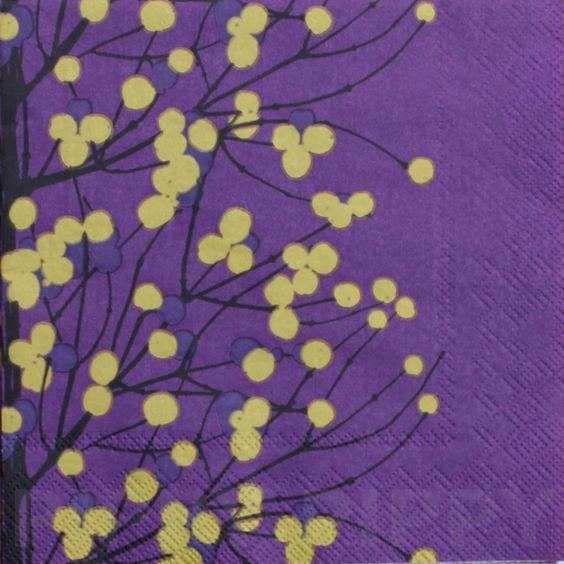 【楽天市場】marimekko マリメッコ 可愛い 4つ折りペーパーナプキン☆LUMIMARJA dark purple☆(20枚入り):Pippy 楽天市場店