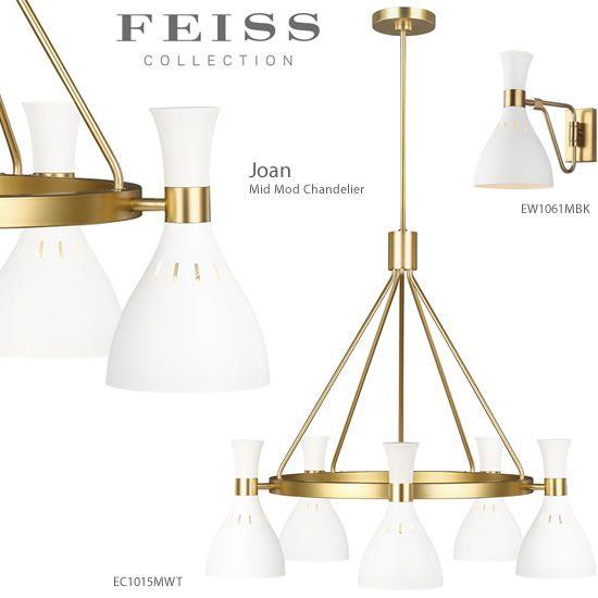 Feiss Ec1015mbk Ec1015mwt Mid Mod
