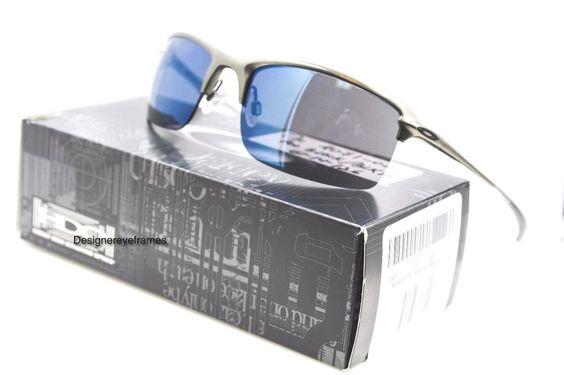 OAKLEY OO 4071-02 WIRETAP Carbon Frame Ice Iridium Sunglasses NWT AUTH #Oakley #HalfRimless
