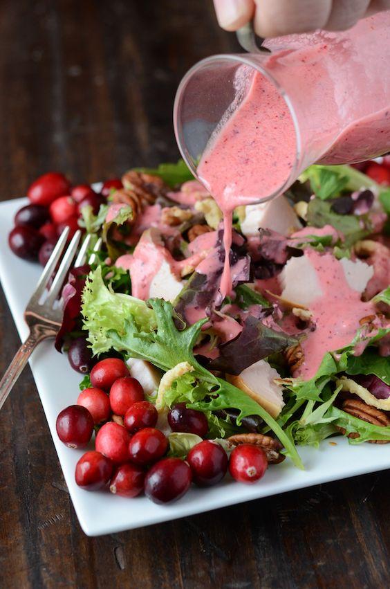 Turkey Salad with Cranberry Vinaigrette