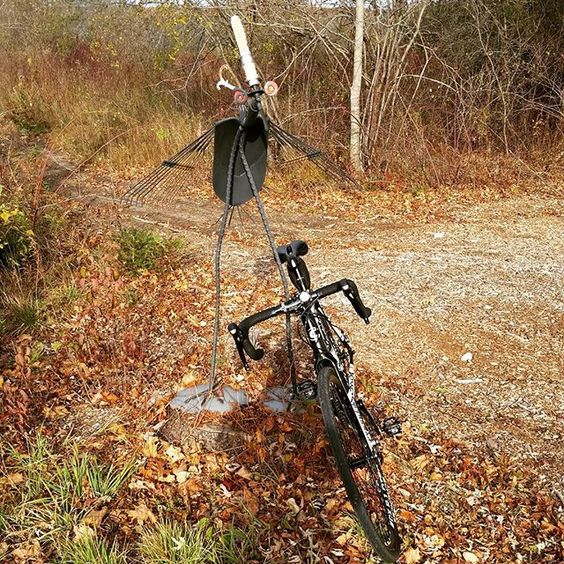 #halloween creatures are already out. #cycling #cyclocross