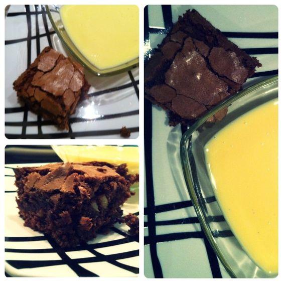 Pou r le brownies aux noix Ingr�dients : > 180 g de chocolat noir > 150 g de beurre   un peu pour le moule > 150 g de noix > 3 oeufs > 300 g de sucre > 125 g de farine Mat�riel : > 1 moule rectangulaire de 15 x 20 cm > Pr�chauffer le four � 180� C. Faire...