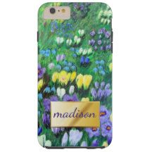 Abstract Pastel Multiflower Garden Tough iPhone 6 Plus Case