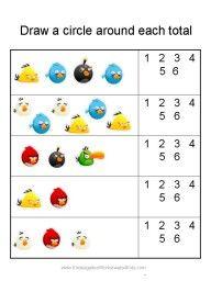 math worksheet : angry birds math worksheets for kindergarten  angry bird ideas  : Birds Worksheets For Kindergarten