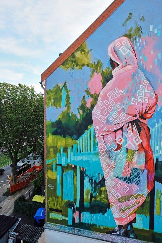 'Yalla' new mural by Julia Benz in Dusseldorf - Street Art - Raccolte - Google+