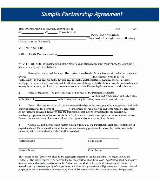 Profit Sharing Letter Sample Luxury 10 Profit Agreement Template
