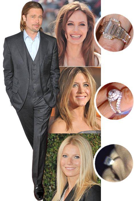 Who Got The Better Ring Rings Cool Brad Pitt And Jennifer Celebrity Engagement Rings