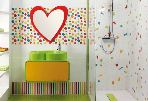 colorful and fun kids bathroom ideas daily source for inspiration : ideas mosaic wall