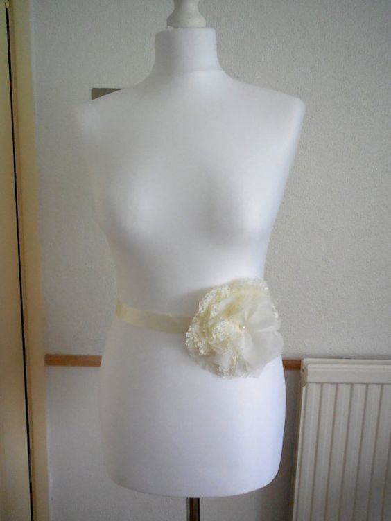 Ivory/white Lace floral wedding gown by AccessoriesForBrides, £15.99