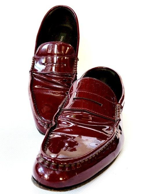 Dress shoes men, Patent leather loafers