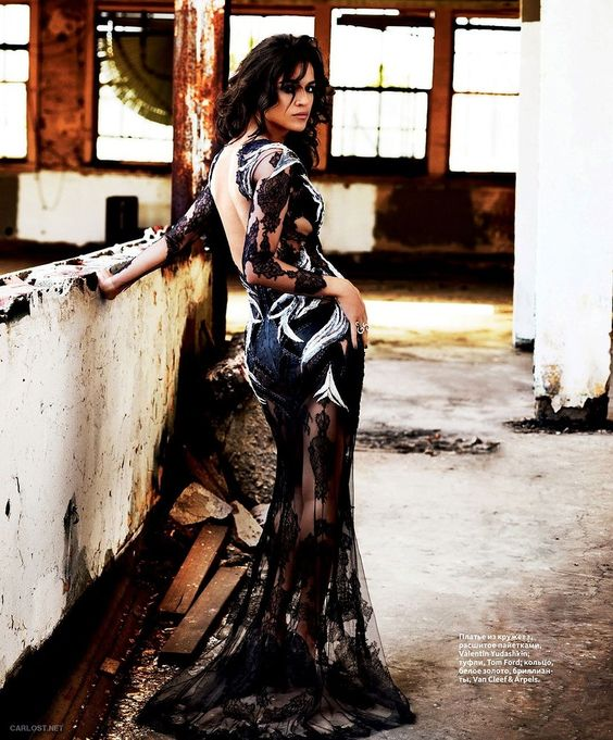 could care less that it's Michelle Rodriguez. just this dress and photo are incredible!
