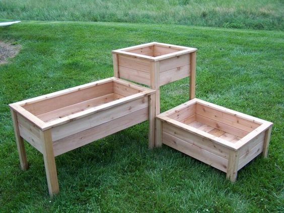 Varying Height Vegetable Box Gardens | Elevated Design Eliminates Constant Bending and Kneeling