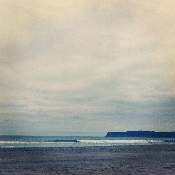 coronado beach san diego - cool crisp morning on the beach