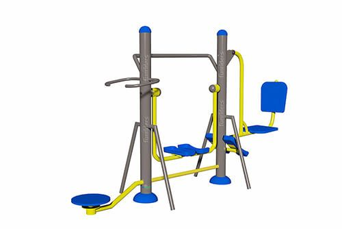 Trio Fitness Station Social Work Out Station Outdoor Gym Equipment Outdoor Gym No Equipment Workout
