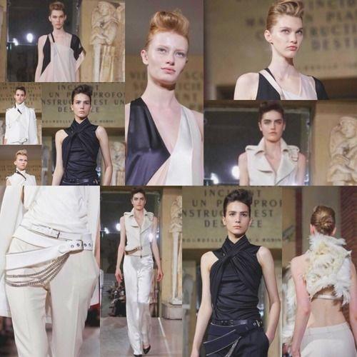 Paris | Haute couture FW 2013/2014 | BOUCHRA JARRAR   //   Une collection .. prêt-à-porter. Pour la Haute couture, on attendra. Styles redondants ..