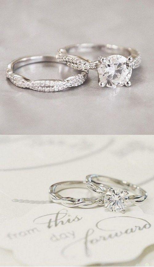 Twist Vintage Wedding Rings Set Http Www Deerpearlflowers Com Twisted Engagement R Engagement Rings Twisted Wedding Ring Sets Vintage Wedding Rings Vintage