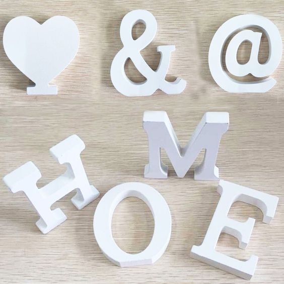 Wedding Decorations Wooden Letters White Wood Alphabet Decorative Crafts Romantic Home Birthday Party Event Supplies Kids-in Wood Crafts from Home, Kitchen & Garden on Aliexpress.com   Alibaba Group