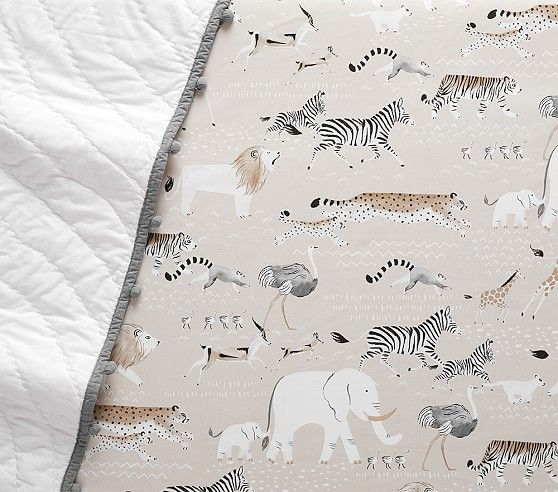 Organic Rowan Safari Fitted Crib Sheet Fitted Crib Sheet Baby