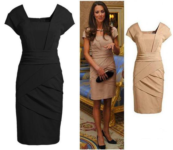 2013 British Princess Kate Fashion Dress Women's Business Office Trendy Fashion Elegant OL Dress Lady Two Colors free shopping on AliExpress.com. $28.00