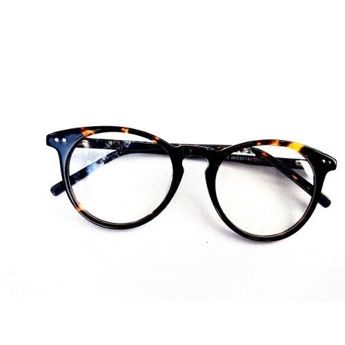 Oculos Redondo Masculino Feminino Armacao Grau Tartaruga R 49