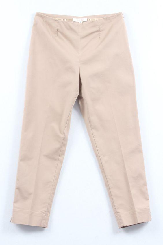 Check out Ellen Tray Beige Slim Leg Trousers on Threadflip!