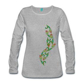 Langarmshirt , Frauenshirt mit Tulpen ~ 2077