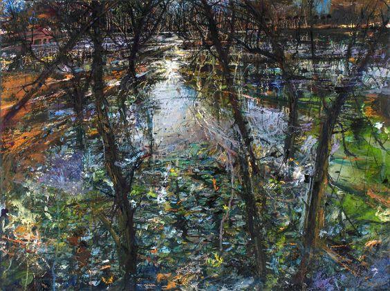 Risveglio all'alba, 2005 Olio tempera e acrilico e pastello su tela 120x80 cm