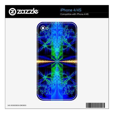 Fractal Art Blue Smart Phone Skin